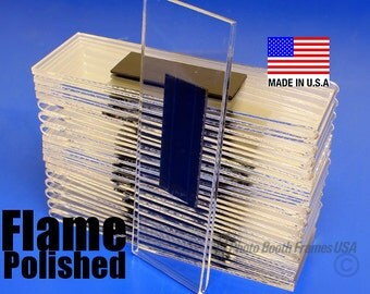 25 Magnetic Photo Booth Frames, 2x6, Non-Imported, USA Made, Extra Thick Acrylic