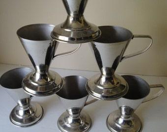 6 Antique Vortex Sanitary Service Soda Fountain Ice Cream Cup Holders