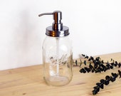Rust Resistant Quart Size Mason Jar Soap Dispenser