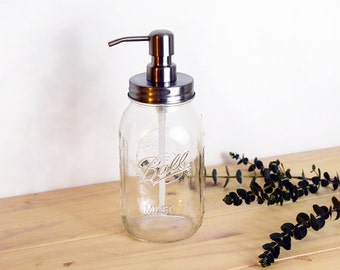 Mason Jar Soap Dispenser, Quart Size Soap Dispenser, Rust Resistant, Rust Proof Mason Jar Soap Dispenser, Large Soap Dispenser, Dish Soap