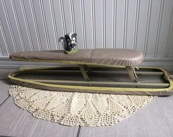 Tabletop Ironing Board, Metal Ironing Board, Sleeve Ironing Board, Vintage Ironing Board, Seamstress, Tailor, Repurpose, Upcycle