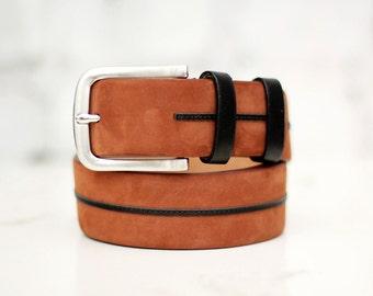 Free shipping! Mens belt, brown belt, leather belt, thick belt, gift for man, brown leather belt, wide belt, casual belt