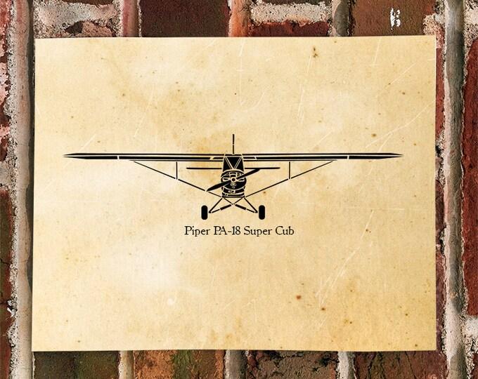KillerBeeMoto: Limited Print Piper PA-18 Super Cub Airplane Print 1 of 100