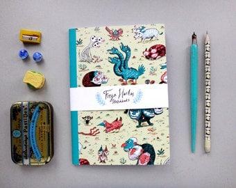 Three Headed Beasts A5 Notebook, Sketchbook, Journal, Diary, Doodlepad