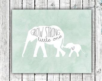 Nursery Wall Art, Elephants, Newborn, Printable Art, Digital Download Size 8x10 #577