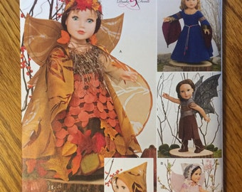 "Simplicity 18"" American Girl Doll Pattern Woodland Fairy Costumes 1134"