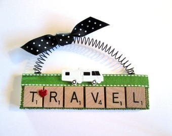 RV Travel Scrabble Tile Ornaments