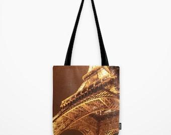 Eiffel Tower Tote Bag, Paris Tote Bag, Gym Bag, Shopping Bag, Girls Fashion Tote, Book Bag, School Tote, Paris, France, Gift Idea