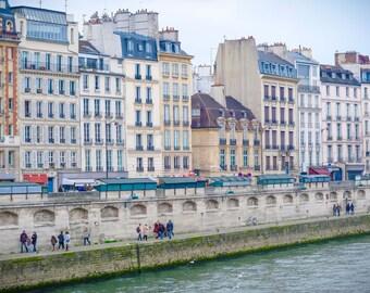 Paris Photography, Paris Photo, Seine River, Latin Quarter Art, Paris Art, Paris Architecture, Living Room Art, Large Wall Decor