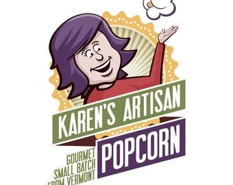 4 Large Popcorn Bag SALE - DISCOUNT - Gourmet Popcorn - Made in Vermont - Buttery, Crunchy and SO Delicious!