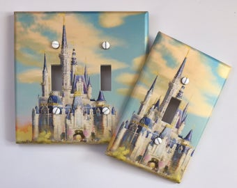 Cinderella Castle light switch cover // ** SAME DAY SHIPPING!