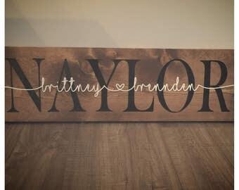 Last name sign, Wedding gift, Last name wood sign, last name established sign, last name wedding sign, name sign wedding