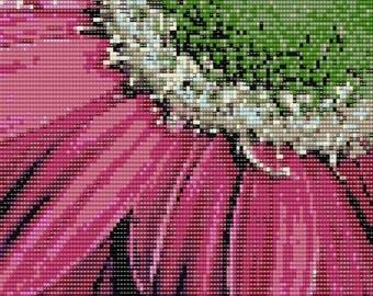 """Daisy 6"""" x 6"""" Loomed Beading Pattern"""