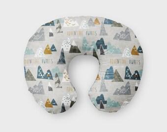 Nursing Pillow Cover Adventure. Nursing Pillow Cover. Woodland Boppy Cover. Baby Bedding. Nursing Pillow Cover. Mountain Boppy Cover.