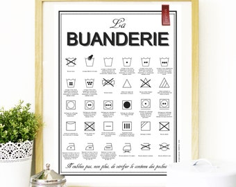 A2 - Displays the laundry room A2 - 42 cm X 59.4 cm - download - print
