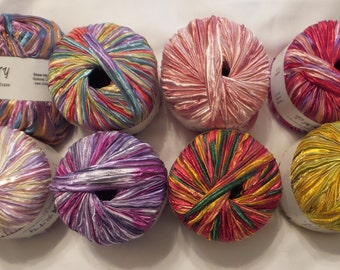 Crystal Palace PARTY Bulky Nylon Ribbon Yarn in Great Colorways Vegan