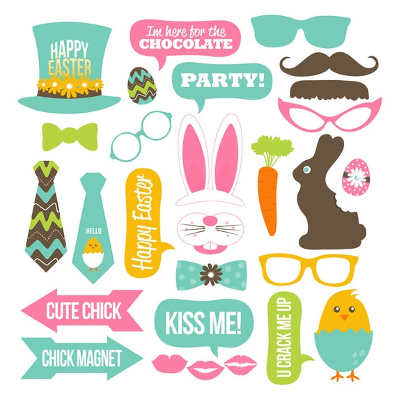 Easter Photo Booth Props Collection