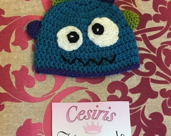 Monster crochet newborn Hat