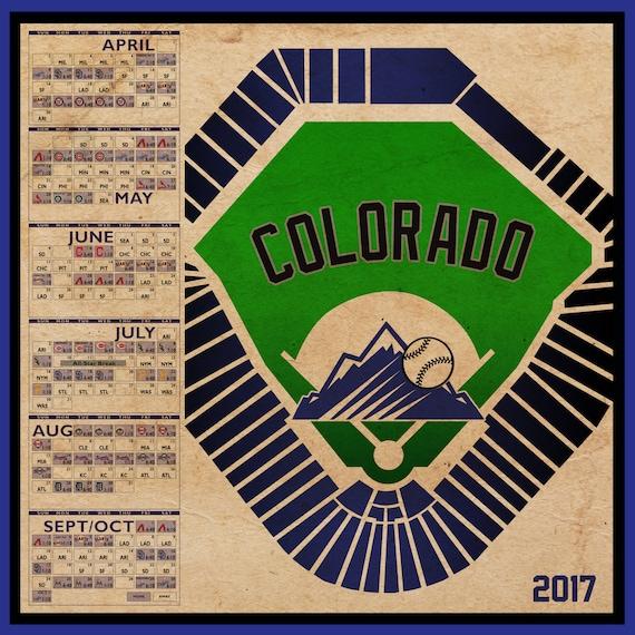 Colorado Rockies Schedule: Colorado Rockies 2017 Schedule Print