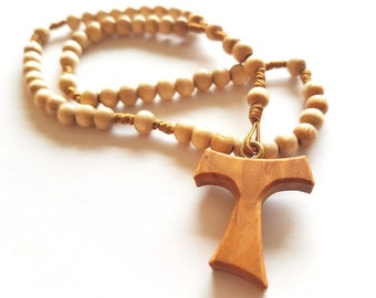 Rosary hand made of wooden beads (Nr. 6a)