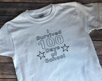 100 Day of School Shirt, Color Your Own Shirt, 100 Days of School Coloring Shirt