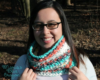 Painted Canyon Cowl Crochet Pattern
