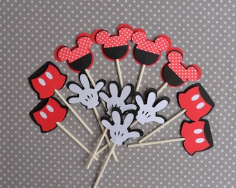 Mickey Mouse Cupcake toppers/ Mickey mouse theme/ Mickey mouse Birthday / Mickey mouse/ Cupcake toppers