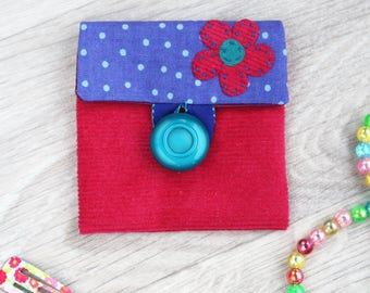 girls purse, cute coin purse, fabric pouch, gift for her
