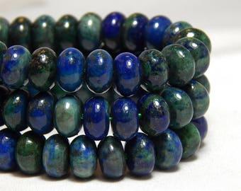 8x5mm Chrysocolla Gemstone Beads, Chrysocolla Rondelles, Gemstone Rondelles, Gemstone Disk Beads,  Gemstone Donut Beads, Rondelles, B-28B