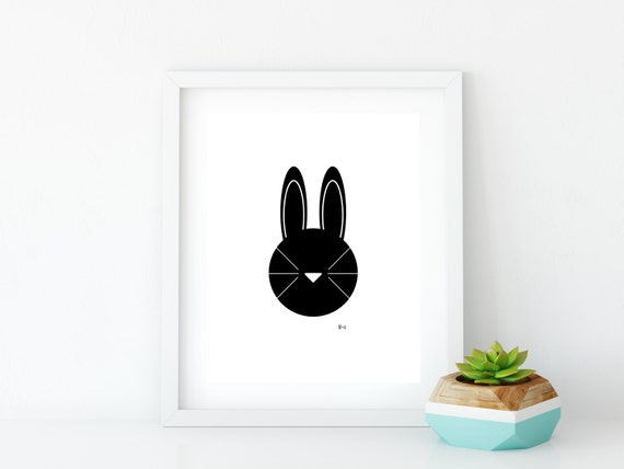 Bunny Art Print, Instant Digital Download