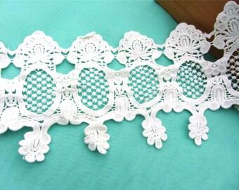 Antique lace trim, white cotton mirror lace ,skirt Cotton lace Trim solubility lace Lace Trim Floral Lace