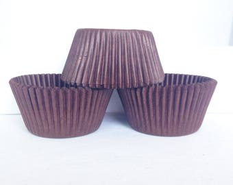 48 Brown Greaseproof Paper Standard Size Cupcake Liners Baking Cups Wrappers