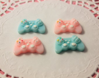 Game controller cabochons 4pcs