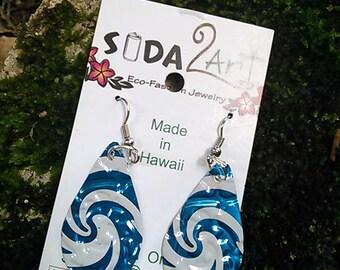 hawaiian earrings ,Tribal boho earrings, Handmade bohemian Jewelry statement long  aluminum earrings