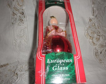 Santa's Best European Style Glass Mouth Blown Handcrafted