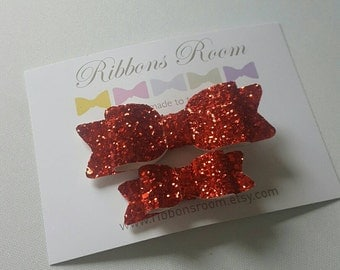 Christmas red hair bow Little girl hair clips red hair clip matching Hair Clips sister hair bows Toddler Hair Clip christmas hair clips