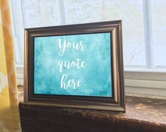 Quote Wall Art, Custom Quote, Original Watercolor Painting, Personalized Wall Art,  Watercolor Painting, Inspirational Wall Art