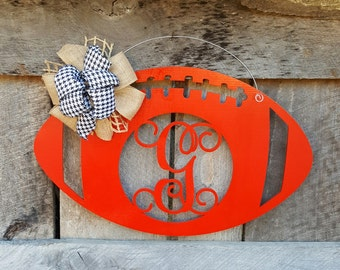 Football Door Hanger - Personalized Football Wreath - Alabama - Fall Door Hanger
