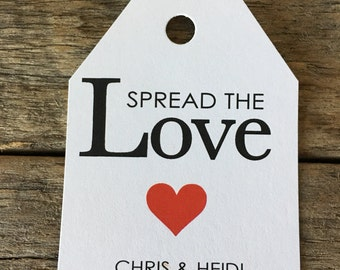 Spread the Love Label,  Wedding Favors, Spread the Love Favors, Bridal Shower Labels, Favors, Party Favors, Spread the Love, hearts