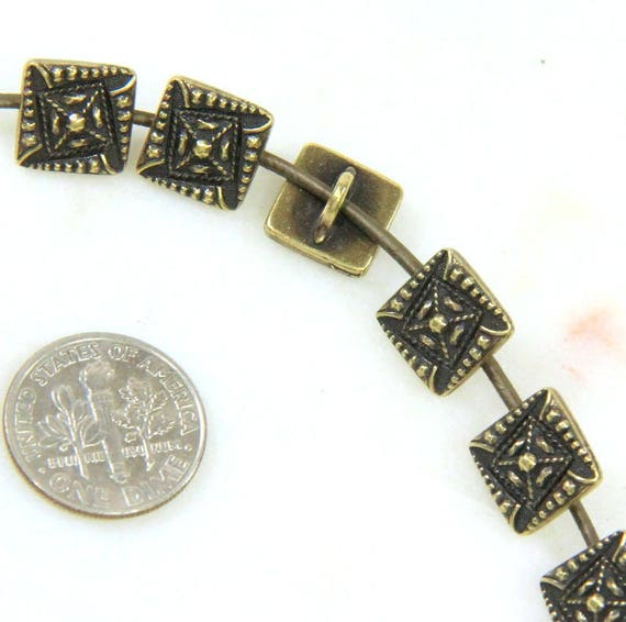 Buttons tierracast buttons czech square buttons metal for Buttons with shanks for jewelry