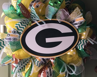 Green bay packers NFL deco mesh wreath