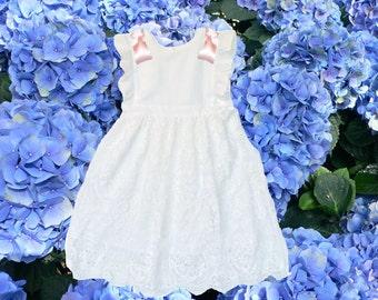 Victorian White Lace Girls Dress