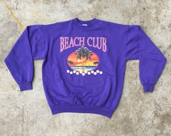 Beach Club Pullover Size Large