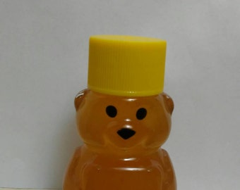24 Honey bear favor, 2 oz honey bear, plastic, bee theme shower, honey wedding favor, pure 100 percent raw unfiltered honey, local honey,