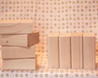 Wood letter blocks etsy for Plain wooden blocks for crafts