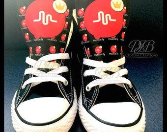 Custom Musically Converse,  Musical.ly, Musically Chucks, Custom Converse,