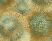 SALE Floating Medallions Fabric Half Yard or By The Yard; 24645A; Quilting Treasures; Arabesque; Quilt, Apparel, Decor