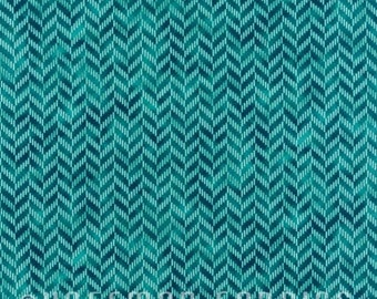 Zig and Zag Turquoise N7700-61 by Hoffman California Cotton Fabric Yardage