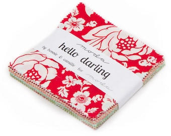 Hello Darling Charm Pack, Bonnie and Camille, Moda Fabric, IN STOCK