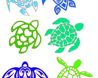 Collection of Turtles SVG File